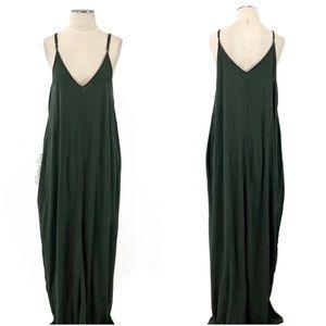 Lovestitch- Green Crepe Maxi Dress Size S/M